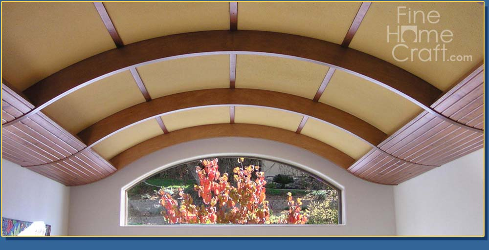 Fine home craft for Arched ceiling beams